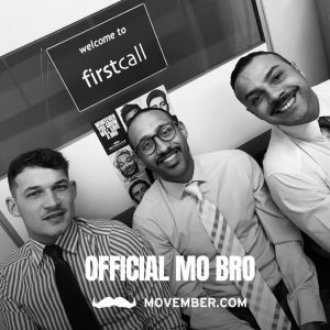 Firstcall Team Movember 2020 fundraising efforts